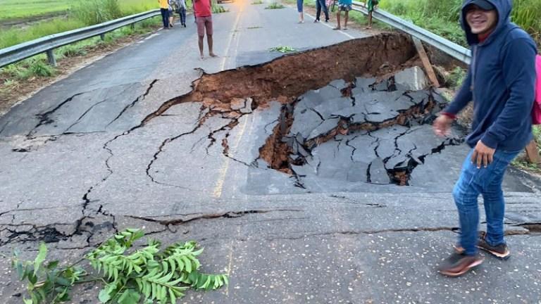 Estrada entre Joselândia e Pedreiras se rompe
